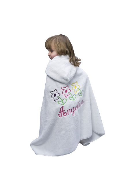 Personalized hooded towels for babies and toddlers
