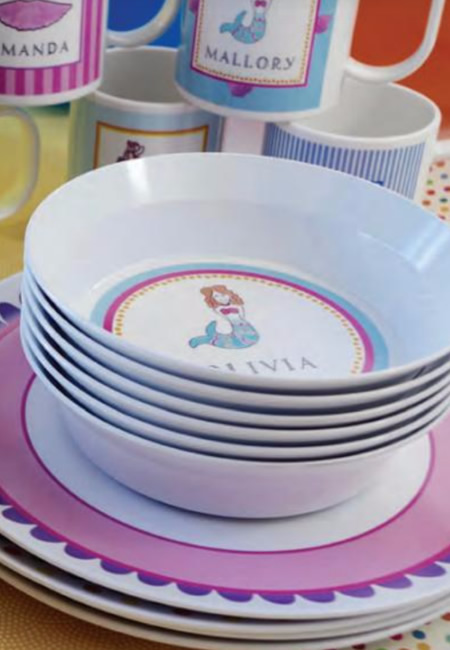 Personalized tableware for children : personalized tableware - pezcame.com