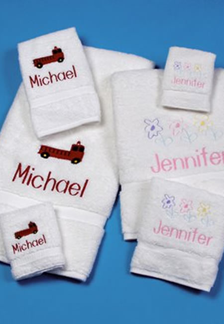 Personalized towels for boys and girls